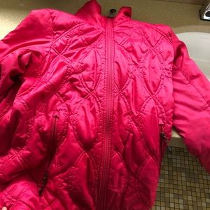 Adidas Women's Size Small Hot Pink Puffer Jacket
